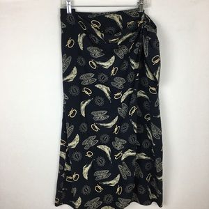 Lauren Ralph Lauren Nautical Wrap Skirt 18W